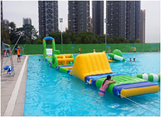 inflatable lake trampoline with good price for kids-2