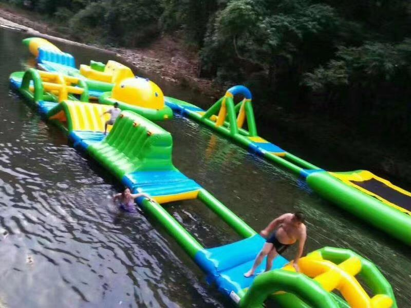 Inflatable Floating Water Park In River