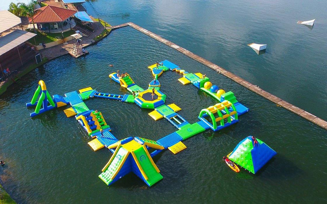 Inflatable Floating Water Park In Sea