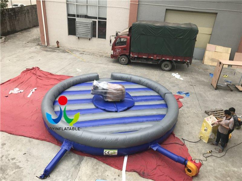 Highly Quality Funny Outdoor Inflatable Mechanical Bull Mattress And Blower / Bull Riding Machine Crazy Rodeo Bull