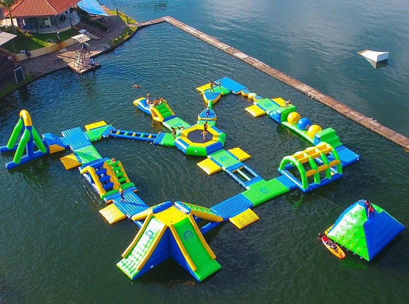 aqua floating playground inquire now for kids-5