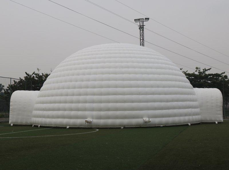 Giant inflatable dome tent for event