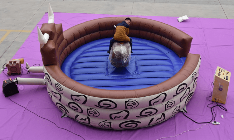 JOY inflatable mobile mechanical bull riding from China for kids-13