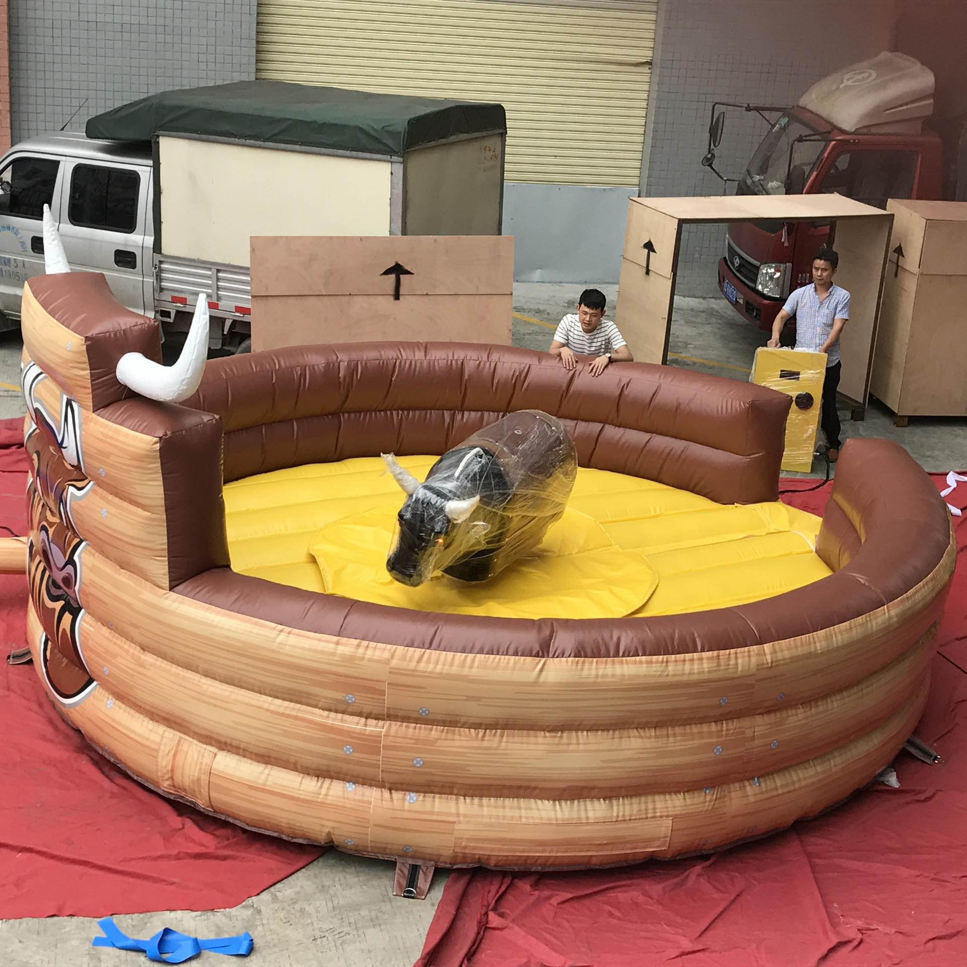 Inflatable Mechanical Bull, Crazy Rodeo Bull Fight