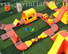 jumping outdoor inflatable water park design for outdoor