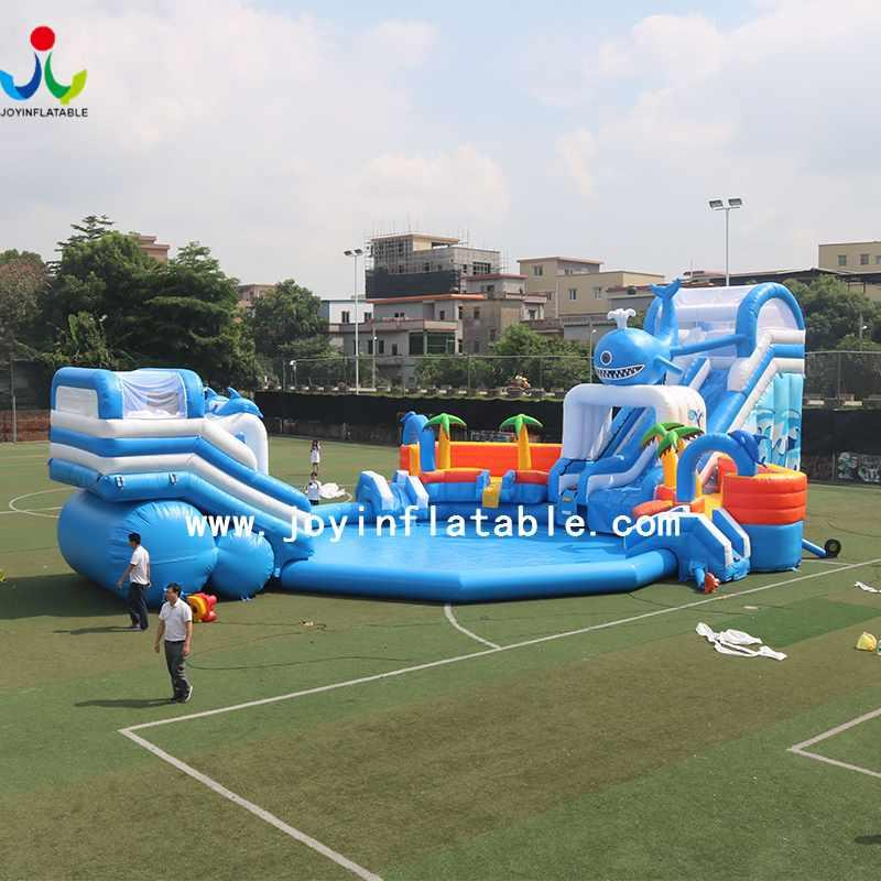 Inflatable Water Slide Games with Swimming pool