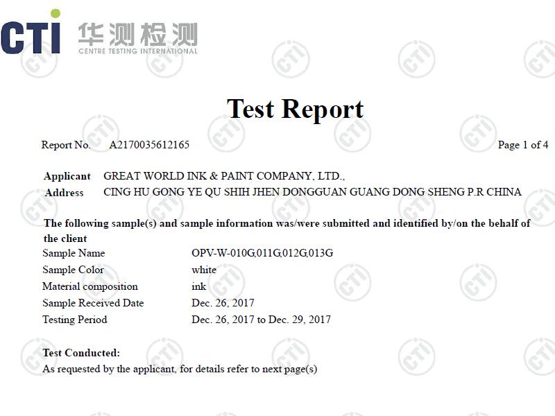 Printing meet the EN71 Certificate  Standard