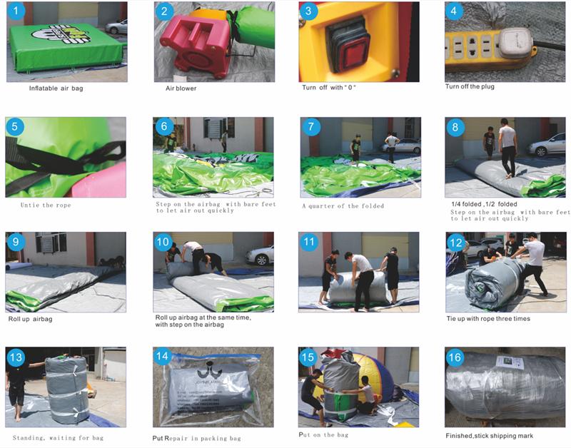 JOY inflatable irregular bag jump manufacturer for children-12