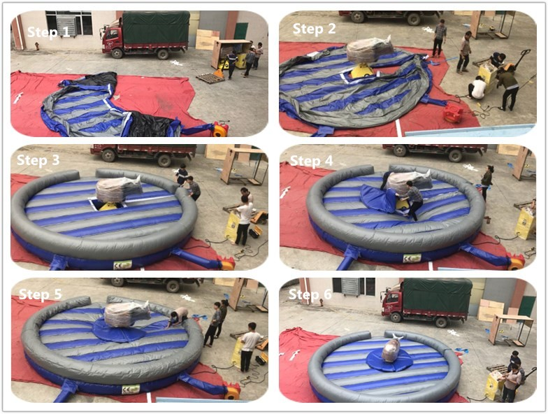 JOY inflatable mobile mechanical bull riding from China for kids-14