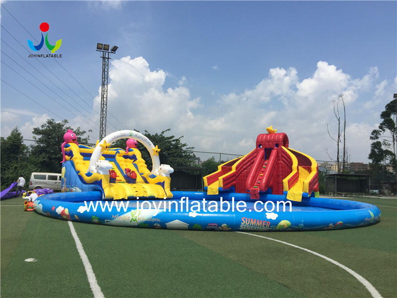 Playground Inflatable Water Park Inflatable Pool Park