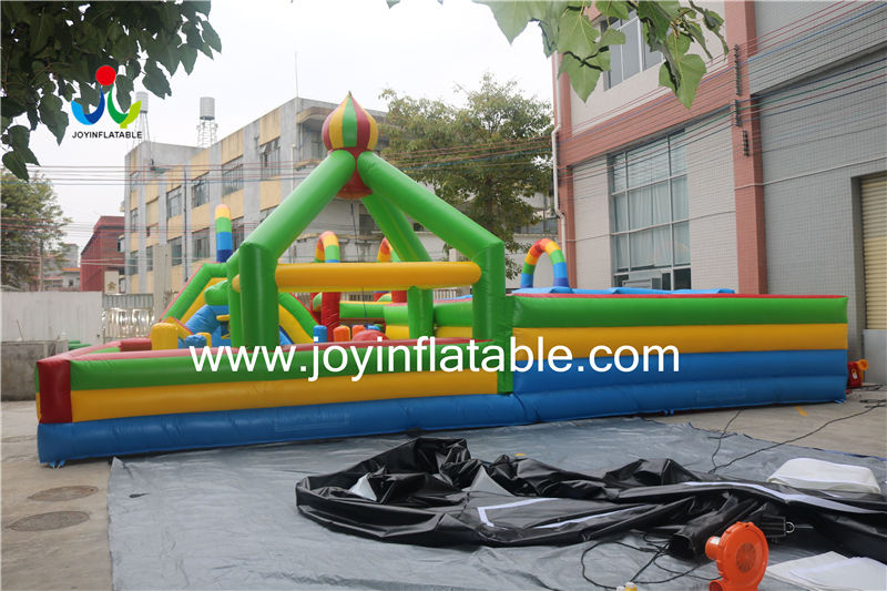 Inflatable Fun City Mix with Maze and Obstacle-6