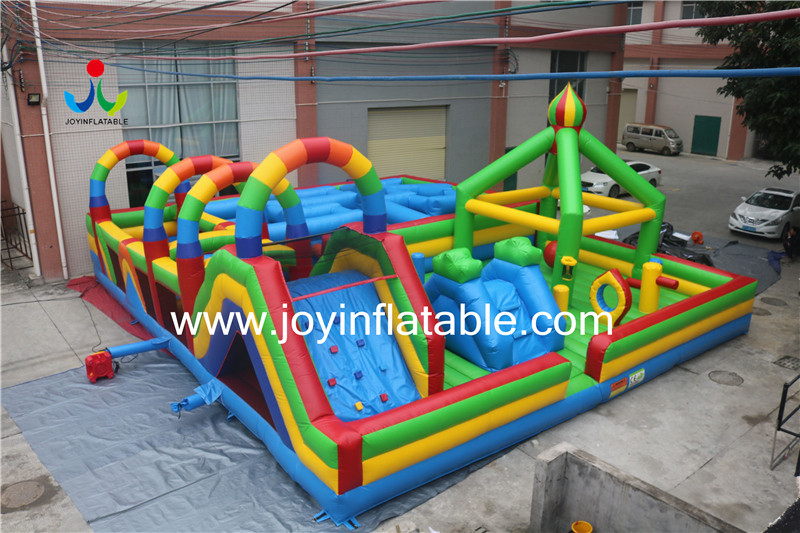 Inflatable Fun City Mix with Maze and Obstacle-7