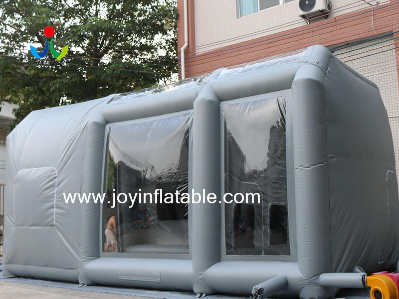 Movable Inflatable Tent Paint Spray Booth Car Mobile Workstation  Video