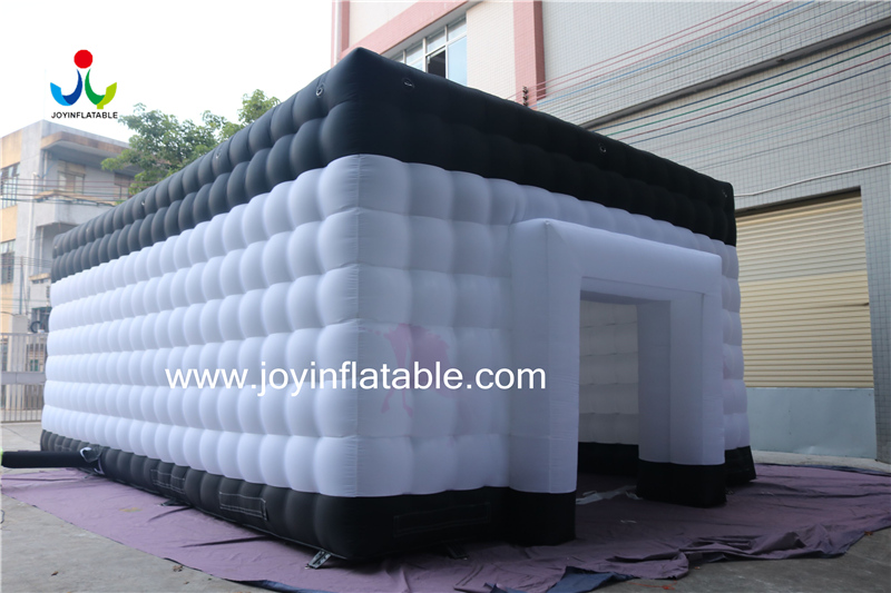Oxford Fabric Sewed Inflatable Cube Waterproof White & Black color-4