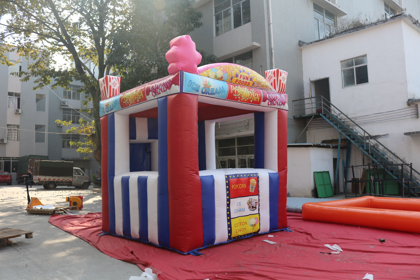 Portable Inflatable Retail Store Cube Tent For Outdoor-4