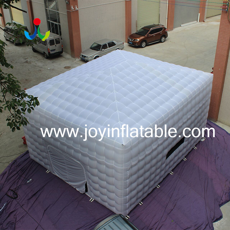 New White Oxford Fabric Inflatable Cube Tent with Ce Blower-4