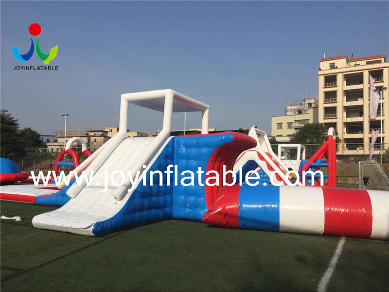 JOY inflatable floating water park personalized for children