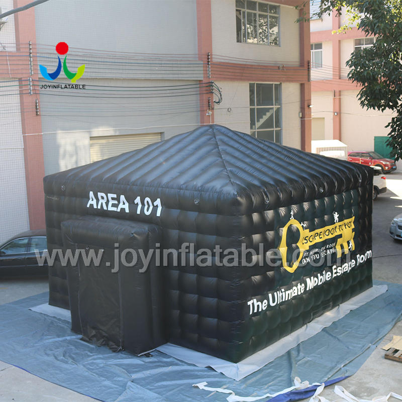 Black Color Inflatable Mobile Escape Room With LED Light