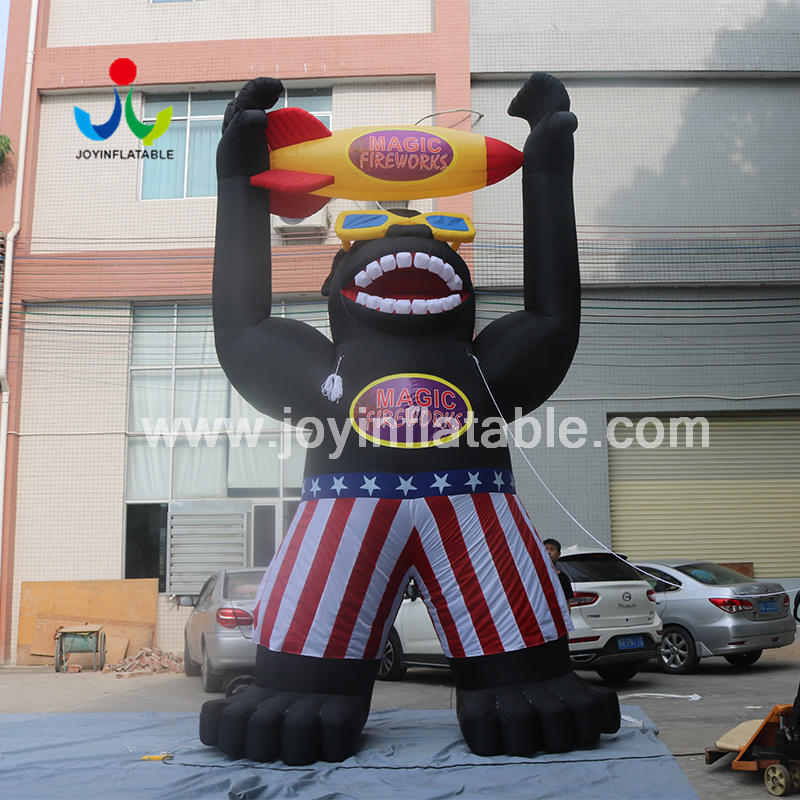 Outdoor Giant Inflatable Cartoon Characters Models With Logo for Advertising Video