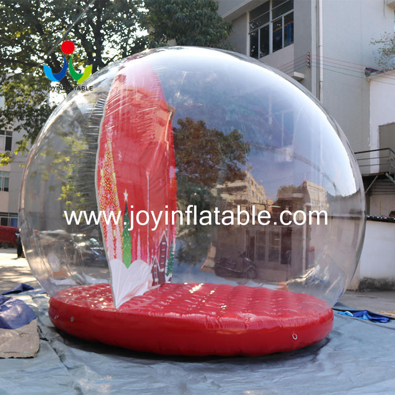 Giant Outdoor Inflatable Christmas Decorations Snow Globe Ball For Advertising