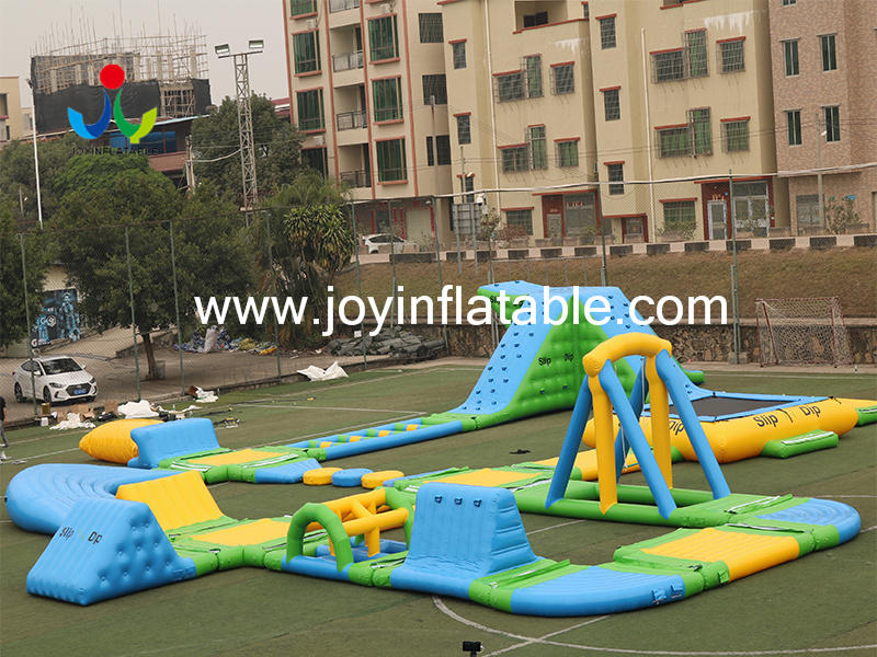 Lake Jumping Inflatable Floating Water Slides Video