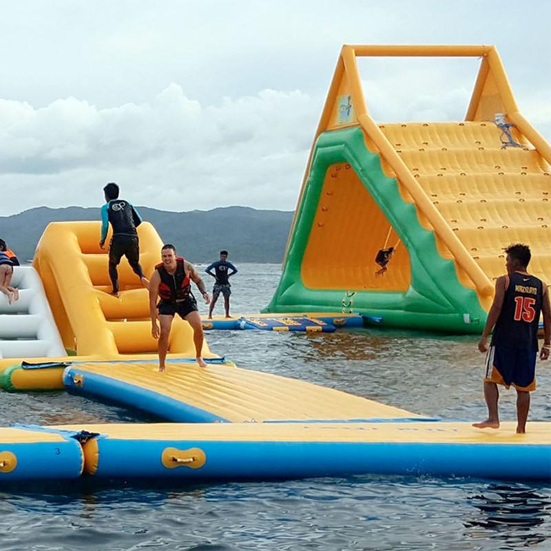 rocker inflatable water trampoline supplier for children-5