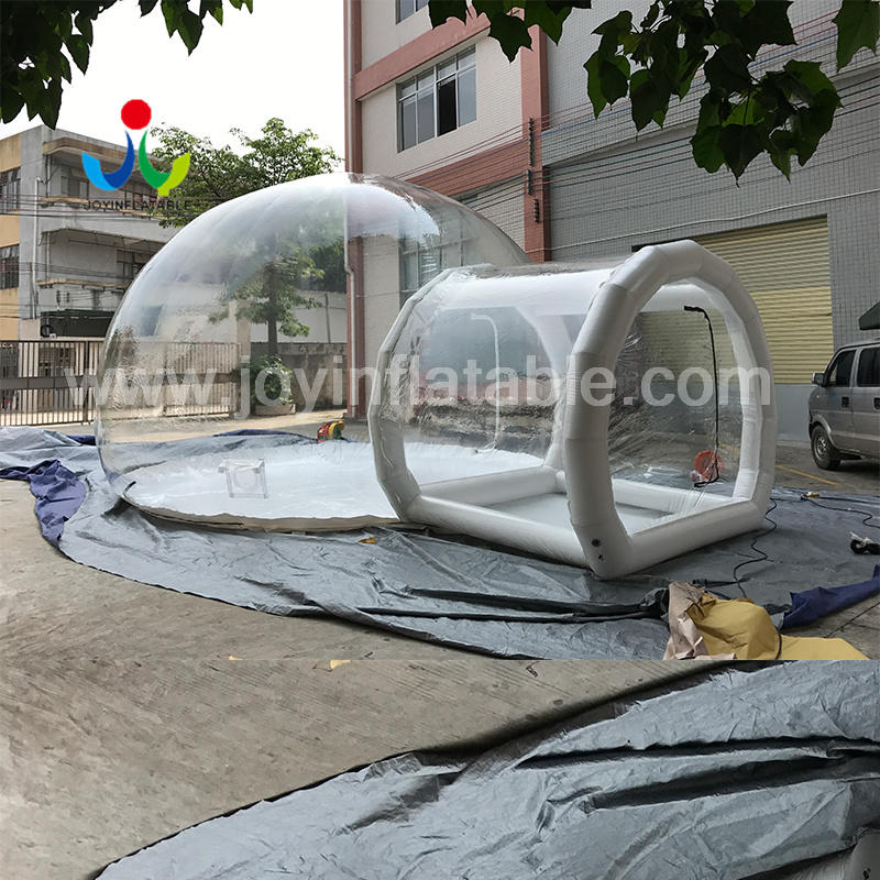 6X8M Outdoor Clear Camping Inflatable Bubble Tent with Frame Tunnel FOR SALE
