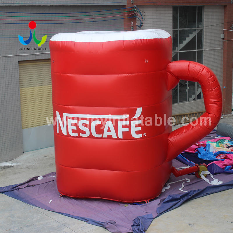 Printed logo Inflatable Bottle Coffee/Tea Cup For Outdoor Advertising Promotion