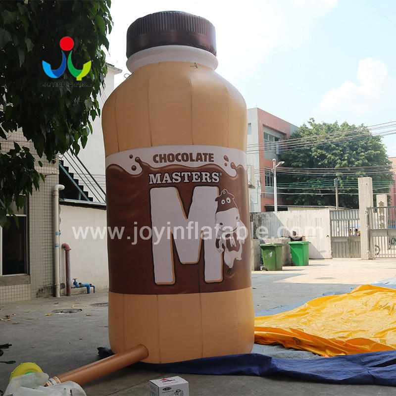 Giant Tall Inflatable Milk Bottle For White Coffee Advertising