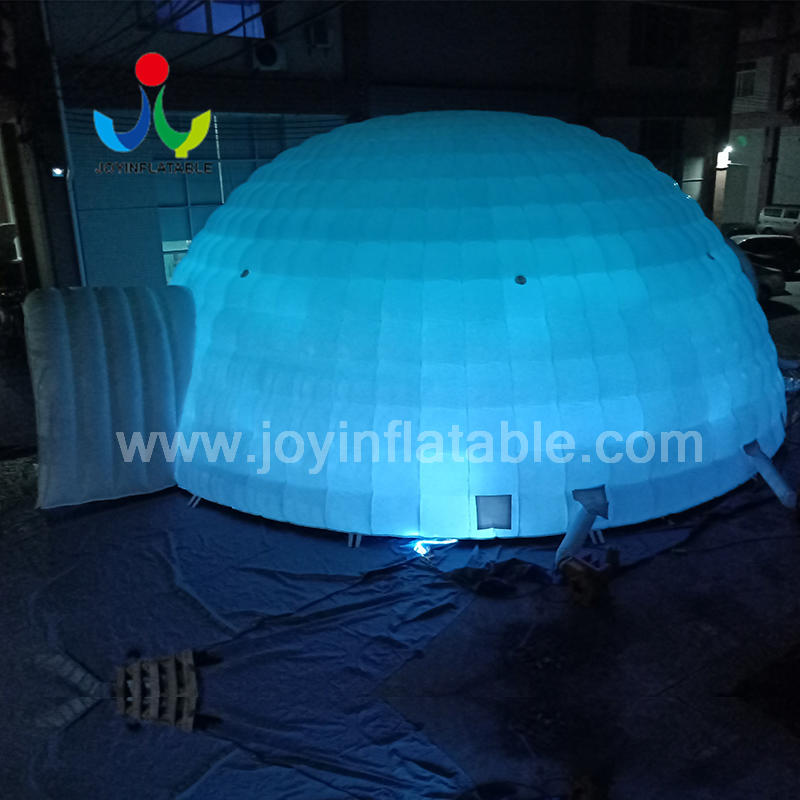 Led Lighting Inflatable Igloo Dome Tent 12 m Diameter