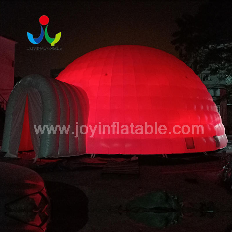 Led Lighting Inflatable Igloo Dome Tent 12 m Diameter