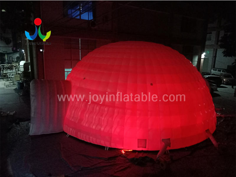Led Lighting Inflatable Igloo Dome Tent 12 m Diameter Video
