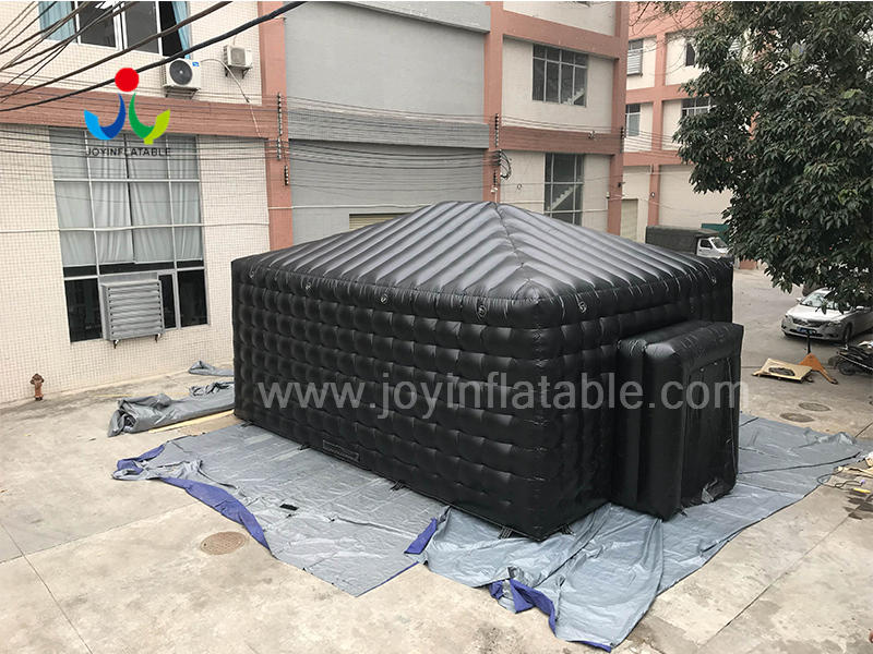 Inflatable Cube Party Advertising Exhibition Trade Show Tent in Black Video