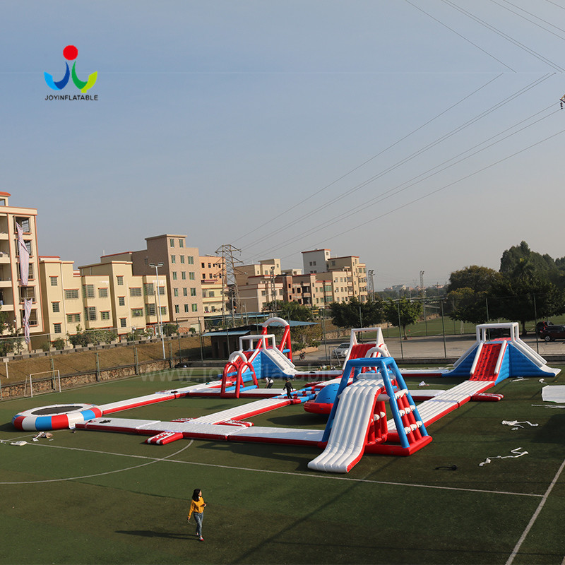 island inflatable lake trampoline with good price for kids-4