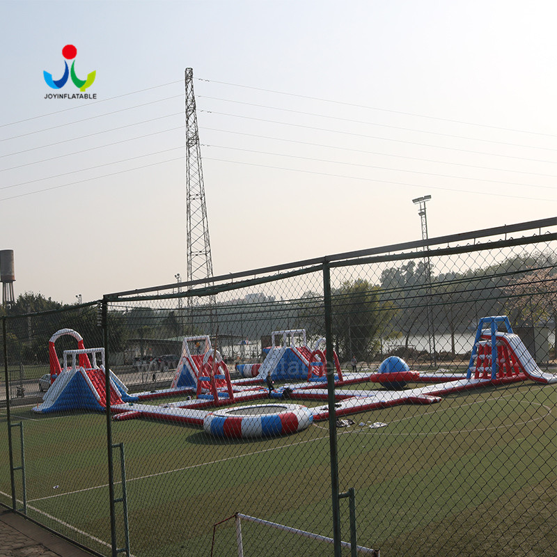 island inflatable lake trampoline with good price for kids-5