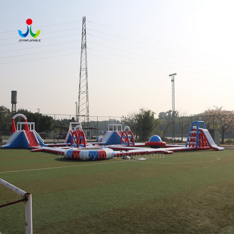 JOY inflatable island floating playground with good price for child-7