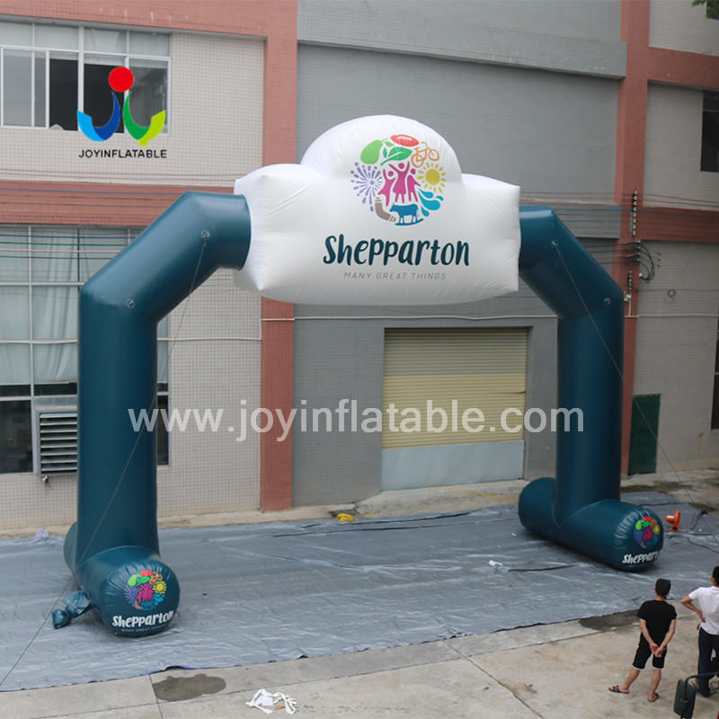 Freestanding Inflatable Racing Run Arch for Event With Customizd logo Print