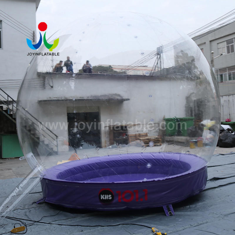 Transparent  Balloon Fashion Shows Inflatable Snow Display Ball