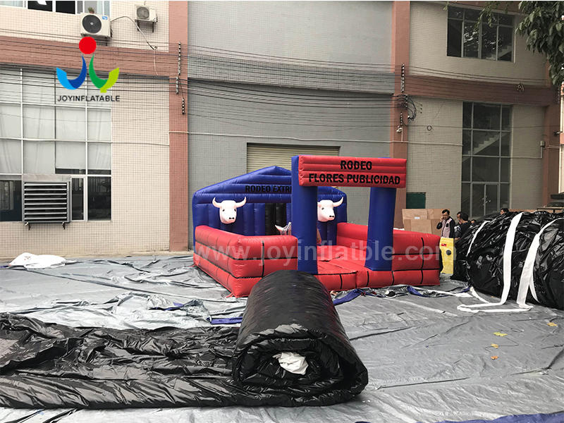 Amusement  Park Games Inflatable Rodeo Riding Mechanical Bull For Sale Video