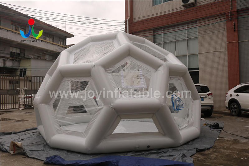 Inflatable Clear Spherical Dome Bubble Tent For Outdoor Camping Video