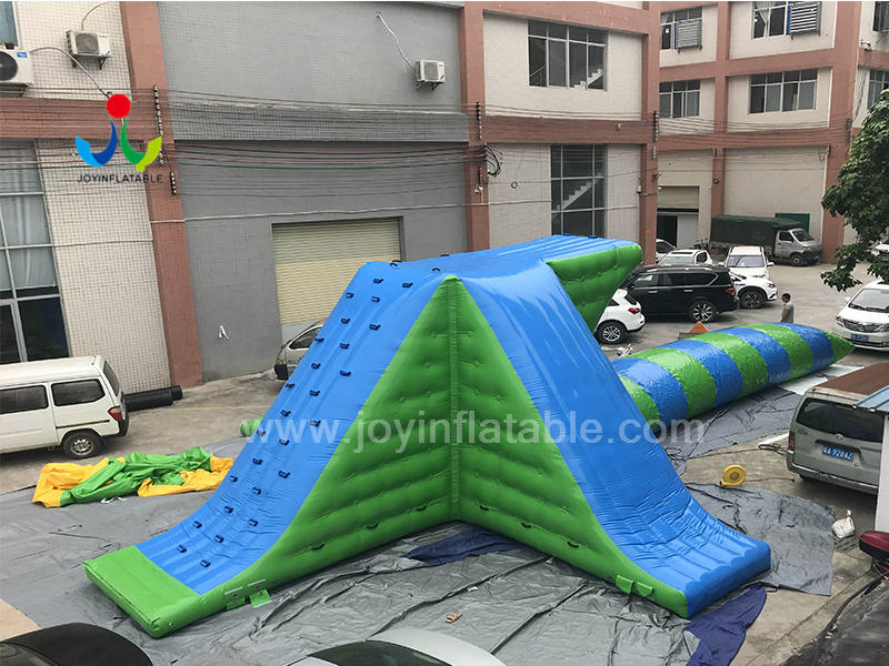 Inflatable Floating Water Slide Floating park with Inflatable Jumping Pillow For Adults Video
