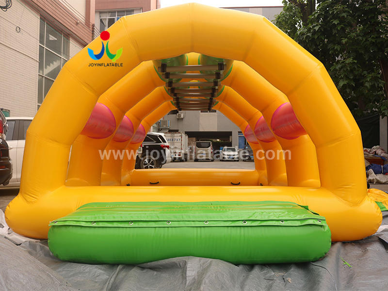 Inflatable Water Floating Obstacle Course Game For Resort  Video