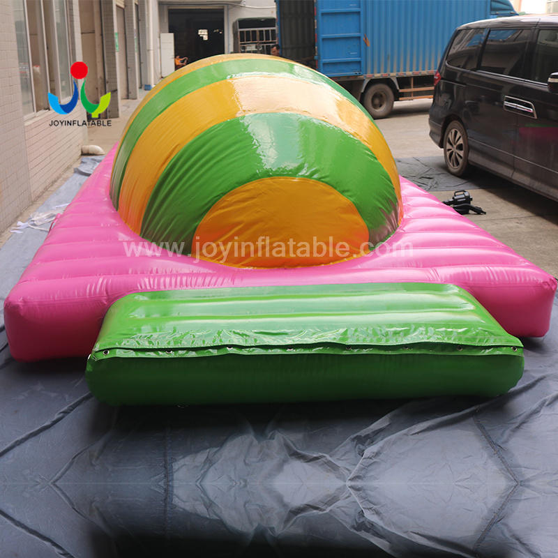 Inflatable Floating Water Park With Water jumping Air Bag Hill