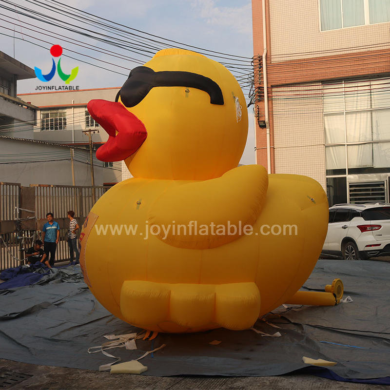 Giant Inflatable Promotion Duck With Glasses For Outdoor Event