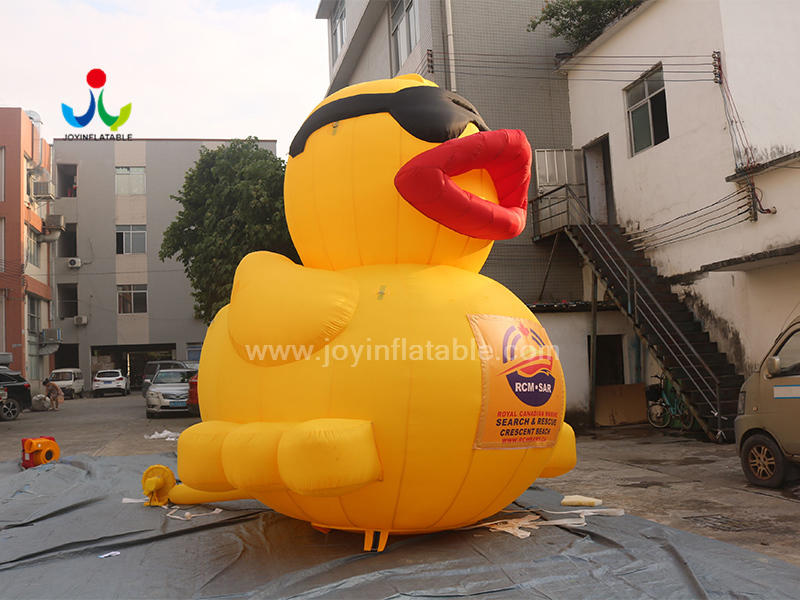 Giant Inflatable Promotion Duck With Glasses For Outdoor Event  Video