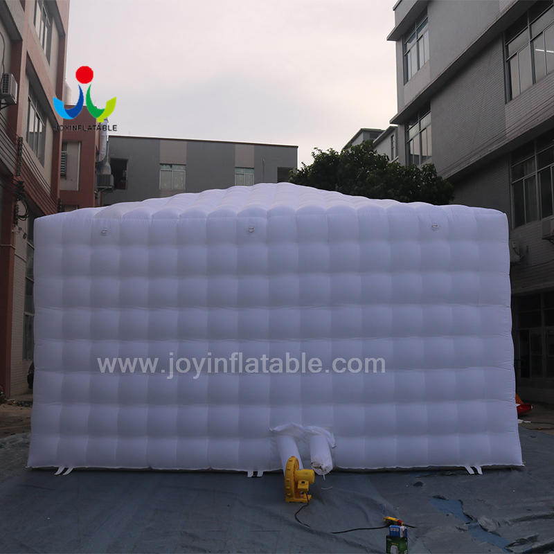 Outdoor White LED Lighting Inflatable Sewing Cube Marquee StructureTent