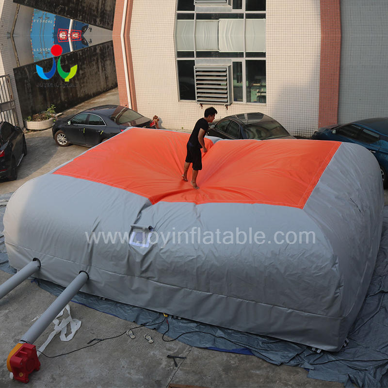 Inflatable Bike Stunt Bungee Air Bag For Jumping