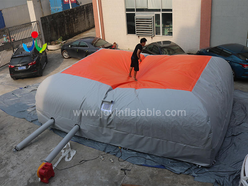 Inflatable Bike Stunt Bungee Air Bag For Jumping Video