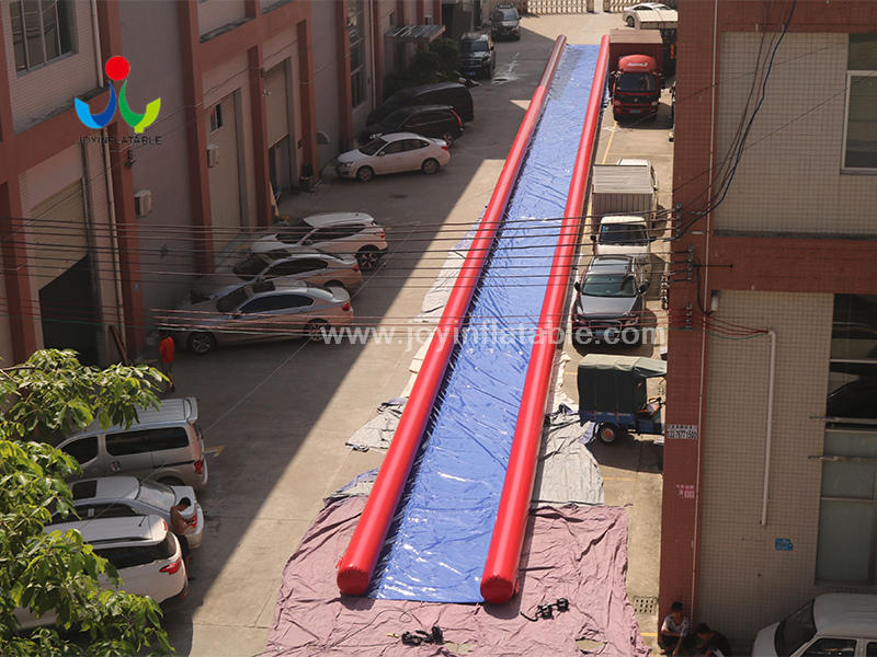 Commercial Outdoor Inflatable Water Slip N City Slide For the Hill Video