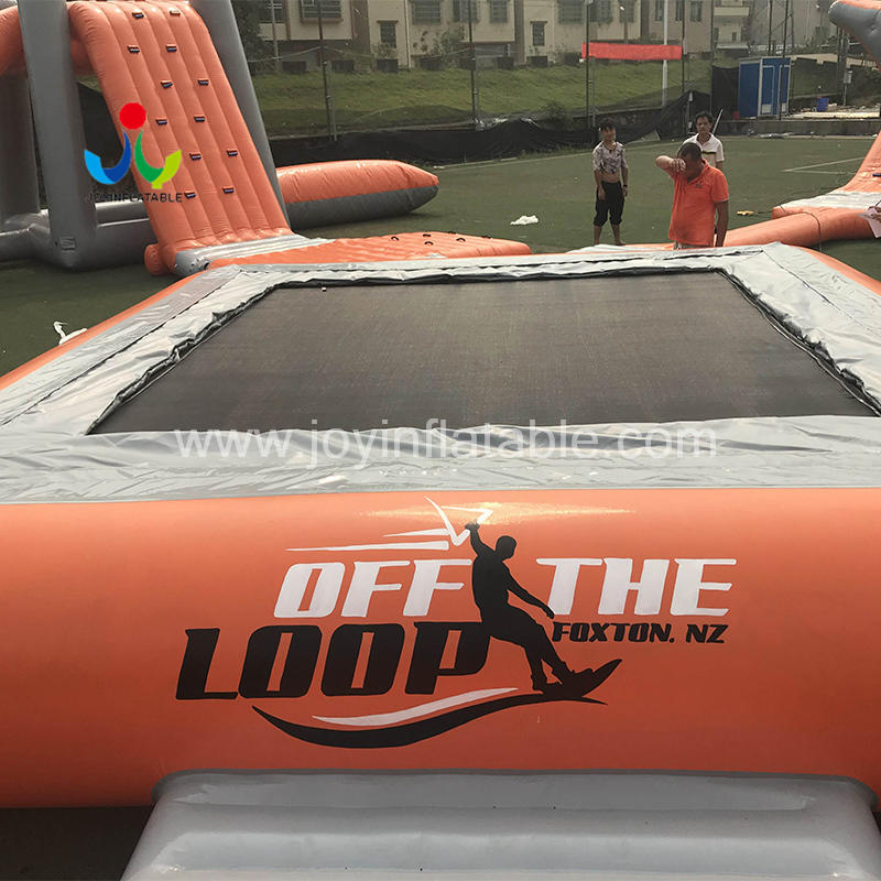 Aqua jump Inflatable Floating  Water Bouncer Sport Trampoline For Sale